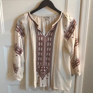 Lucky Brand boho chic long sleeve top